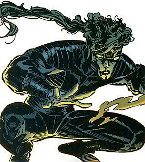 Indigo of the Sovereign 7 (DC Comics) leaping