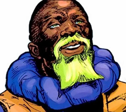 Infidel (Samaritan enemy) (Astro City comics) face closeup