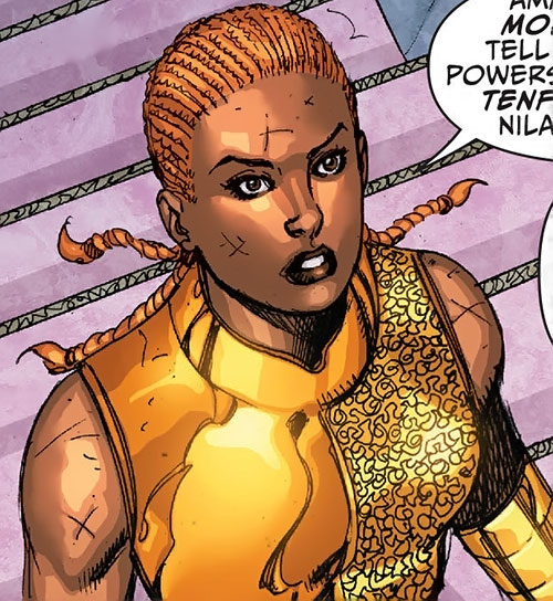 Lady Ingvie of the House of Citrine (Amethyst DC Comics) in armor