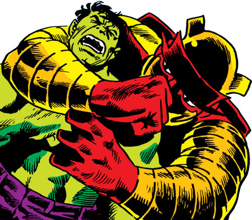 Inheritor from Beyond vs. the Hulk (Marvel Comics)