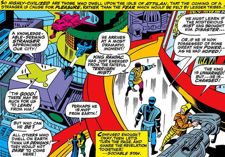 Inhumans (Marvel Comics) ancient history - Attilan architecture