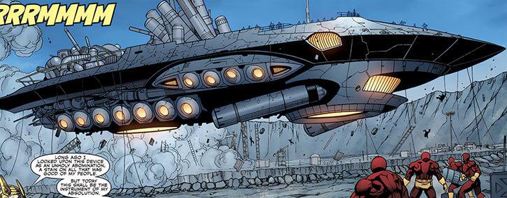Inhumans (Marvel Comics) ancient history - Slave Engine taking off