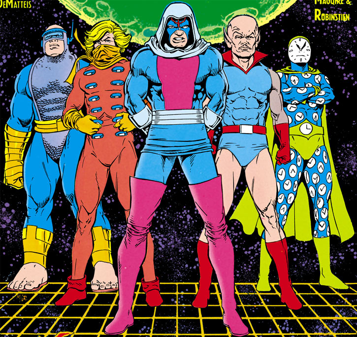 Injustice League (DC Comics) (Giffen comedy version) 1989 team posing