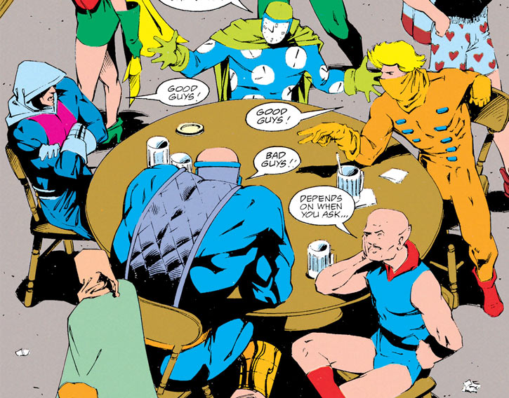 Injustice League (DC Comics) (Giffen comedy version) in a pub bar
