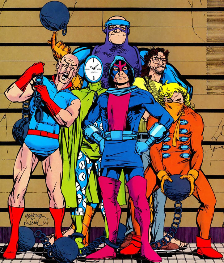 Injustice League (DC Comics) (Giffen comedy version) Who's Who group shot