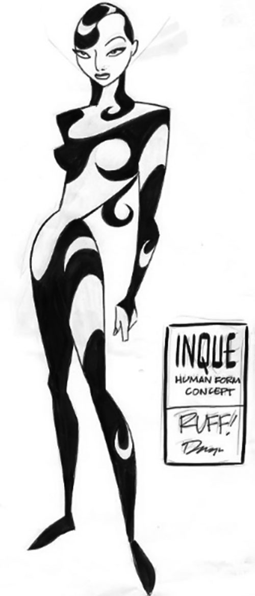Inque (Batman Beyond enemy) concept art