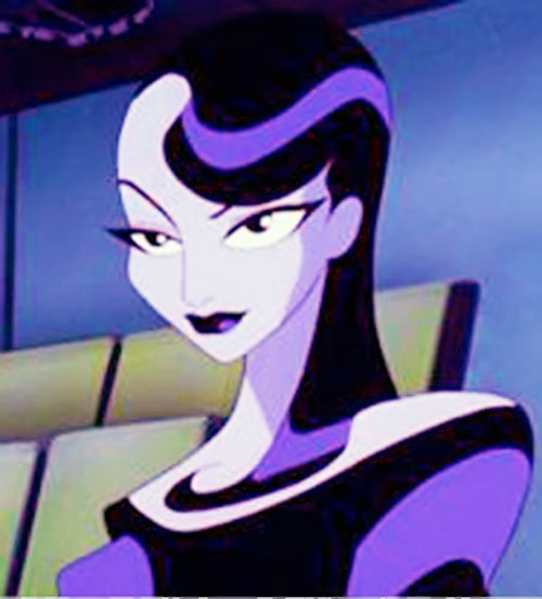 Inque (Batman Beyond enemy) face closeup