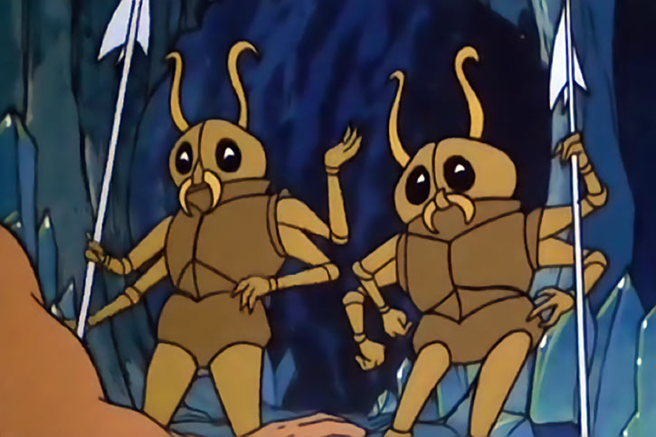 Masters of the Universe (1980s cartoon) - Insect people in their original form