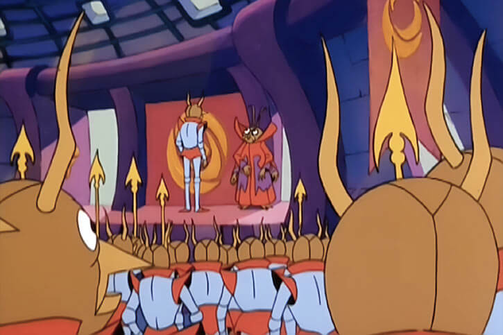 Masters of the Universe (1980s cartoon) - Insect people in their intermediate, middle form