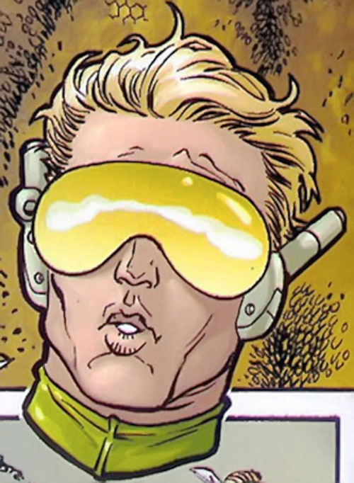 Insecticide (Heroes for Hire enemy) (Marvel Comics) closeup