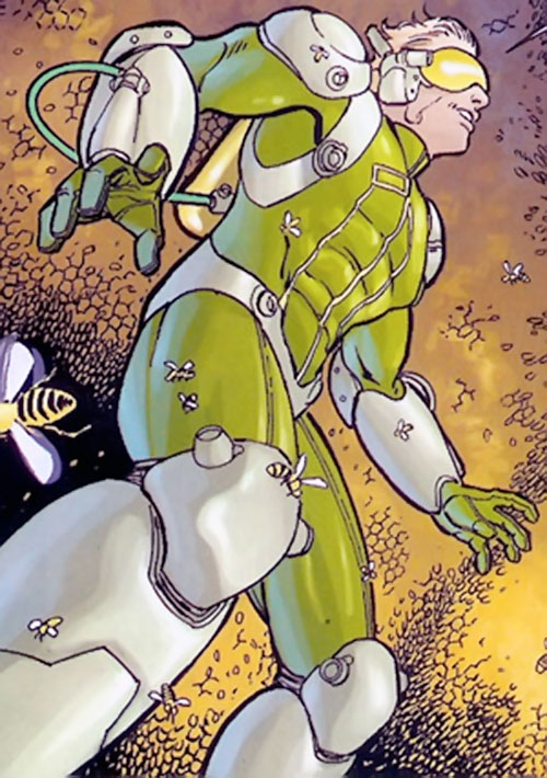 Insecticide (Heroes for Hire enemy) (Marvel Comics) low angle shot