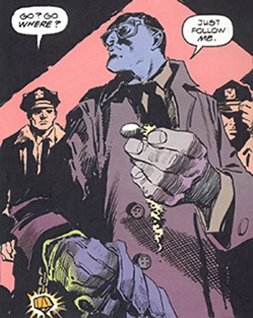 Inspector Judiah Golem (Marvel Comics) (Tomb of Dracula) and cops