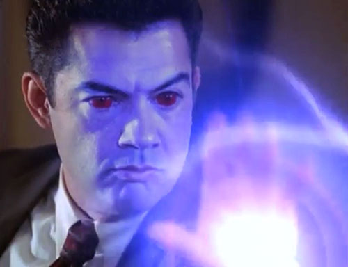 Inspector Rodriguez (Carlos Gomez in Charmed) demonic face and spell