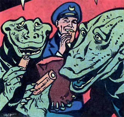 Intergalactic Gold Eaters (Hostess Comics) head closeups