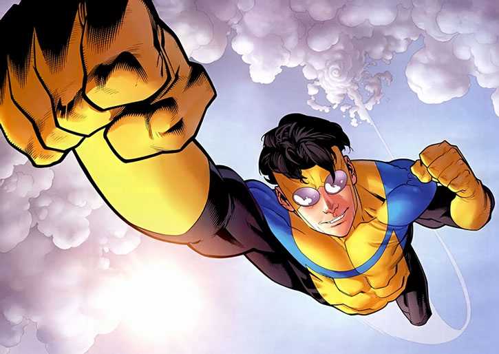 Invincible (Mark Grayson) flying fist first