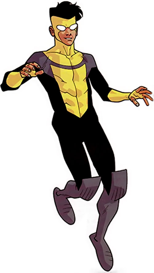 Invincible (Image Comics) in the black, gray and yellow costume