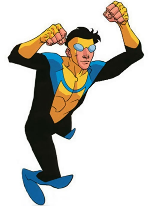 Invincible (Image Comics) with flailing fists