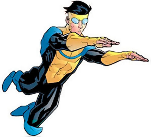 Invincible (Image Comics) flying with extended hands first