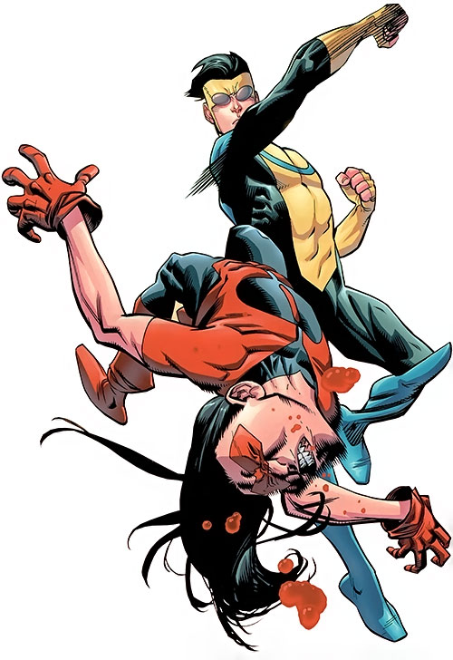 Invincible (Image Comics) punches Young Omni-Man