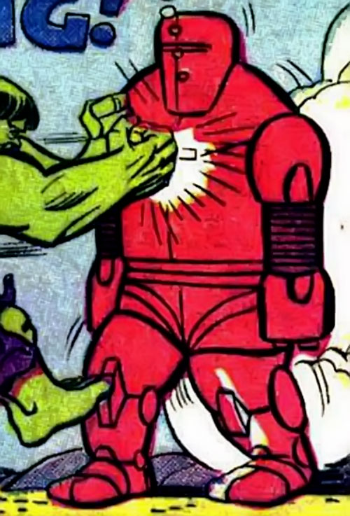 Invincible Red Robot (Marvel Comics) vs. the Hulk