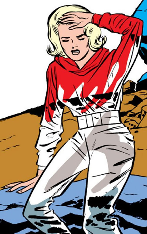 Invisible Girl (Susan Richards) (Fantastic 4) half-transparent