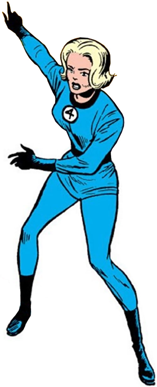 Invisible Girl (Susan Richards) (Fantastic 4) pointing