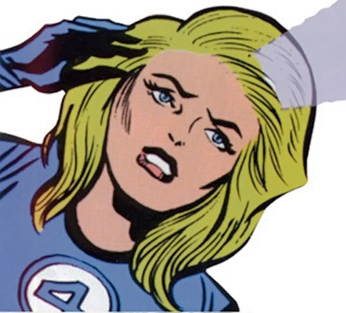 Invisible Girl (Susan Richards) (Fantastic 4) projecting a force field