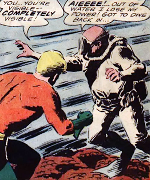 The Invisible Un-Thing revealed to Aquaman