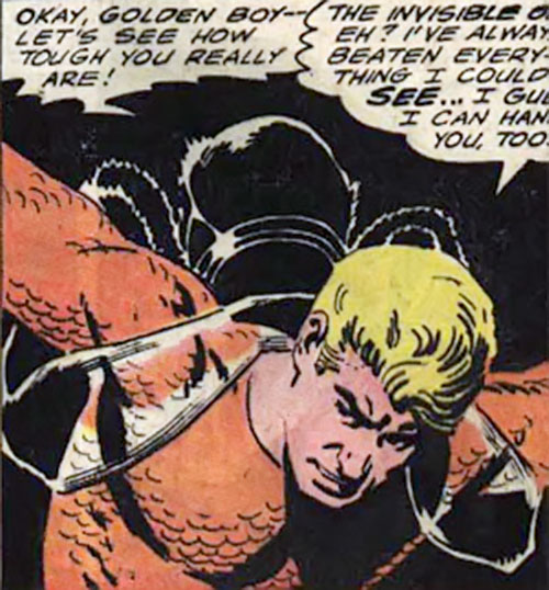The Invisible Un-Thing holds Aquaman