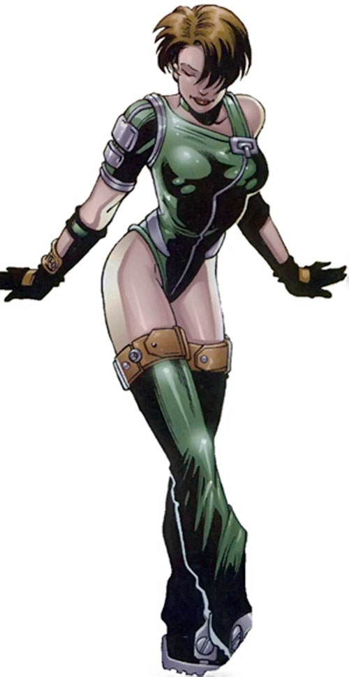 Iress (Negation Crossgen comics) in a sexy green outfit