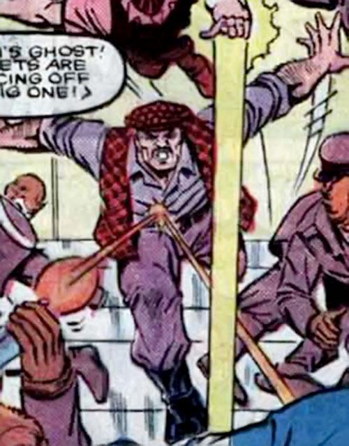 Iron Curtain from Russia (Marvel Comics) ignoring gunfire