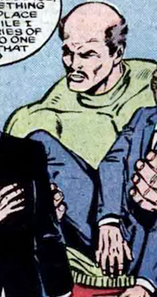 Iron Curtain from Russia (Marvel Comics) carrying a man