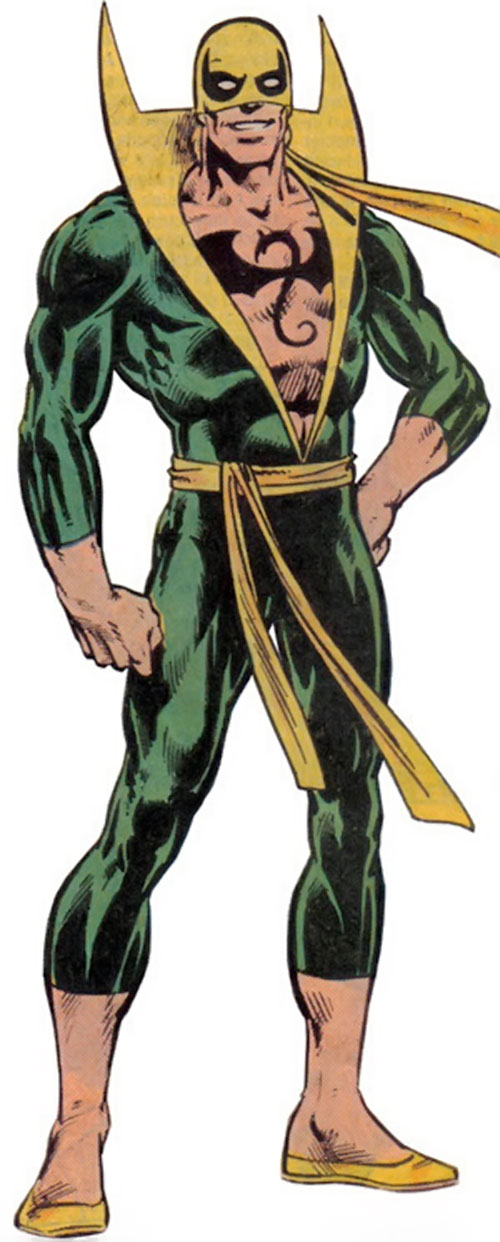 Iron Fist (Marvel Comics) from the older Handbook