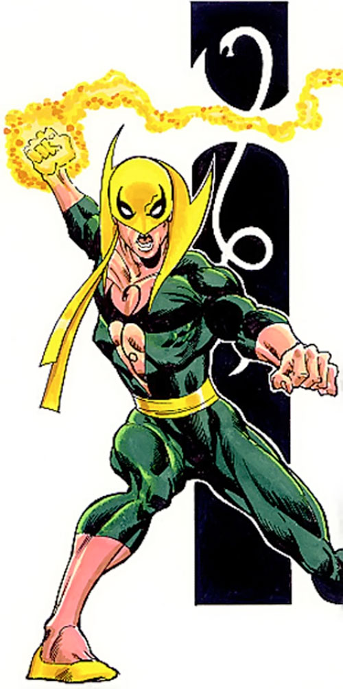 Iron Fist (Marvel Comics) with burning fist