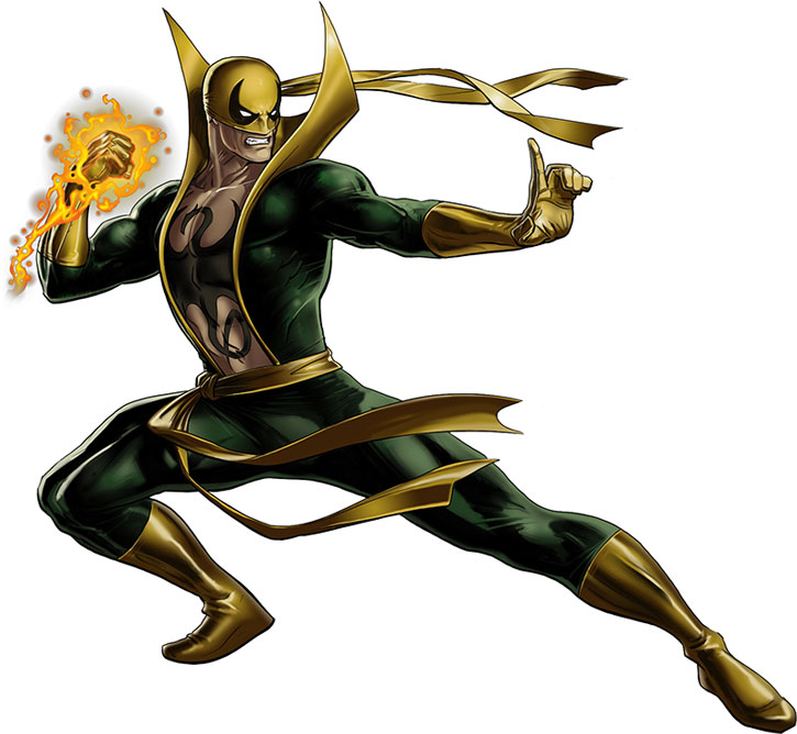 Iron Fist (Danny Ran-K'ai) in a kung-fu pose