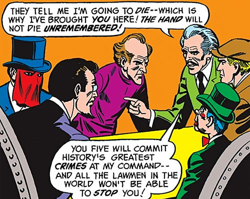 Iron Hand (DC Comics) plotting with other master criminals