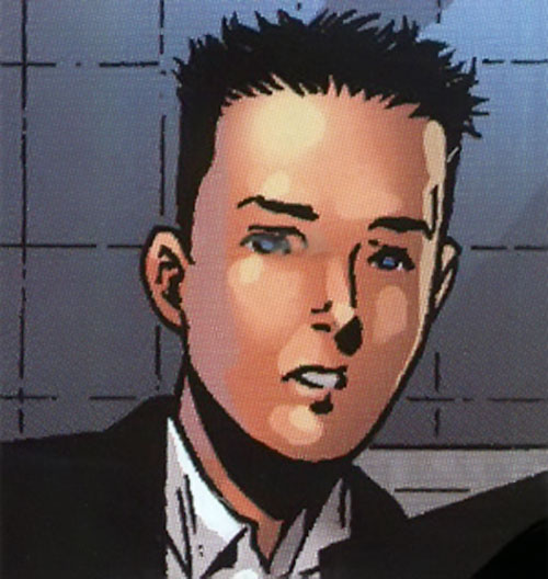 Iron Lad of the Young Avengers (Marvel Comics) face closeup