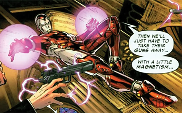 Iron Lad disarms a gunman