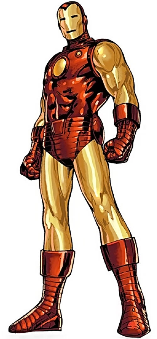 Iron Man Golden Avenger armor (Marvel Comics) standing