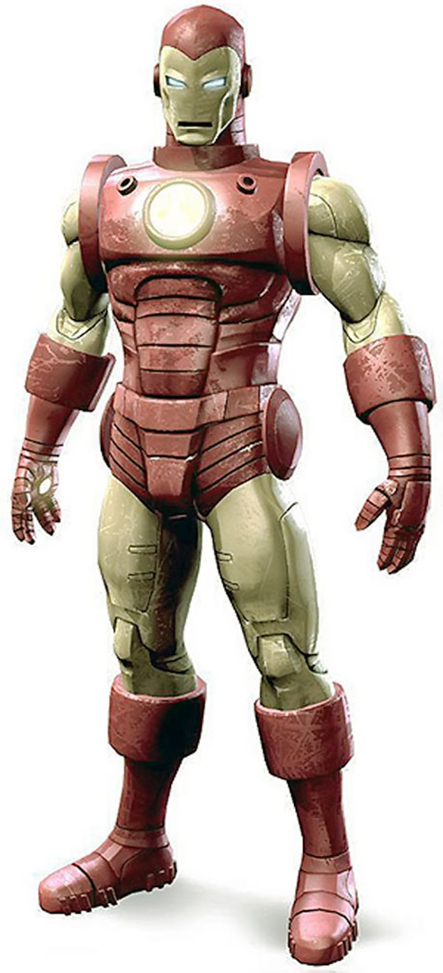 Iron Man Golden Avenger armor (Marvel Comics) model render
