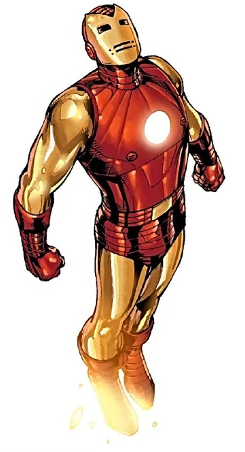 Iron Man Golden Avenger armour suit (Marvel comics) second model