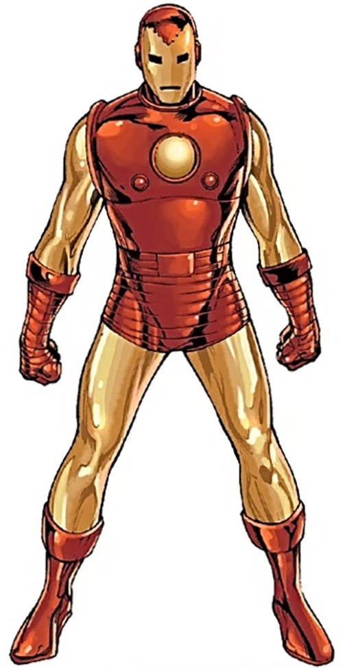 Iron Man Golden Avenger armour suit (Marvel comics) third model