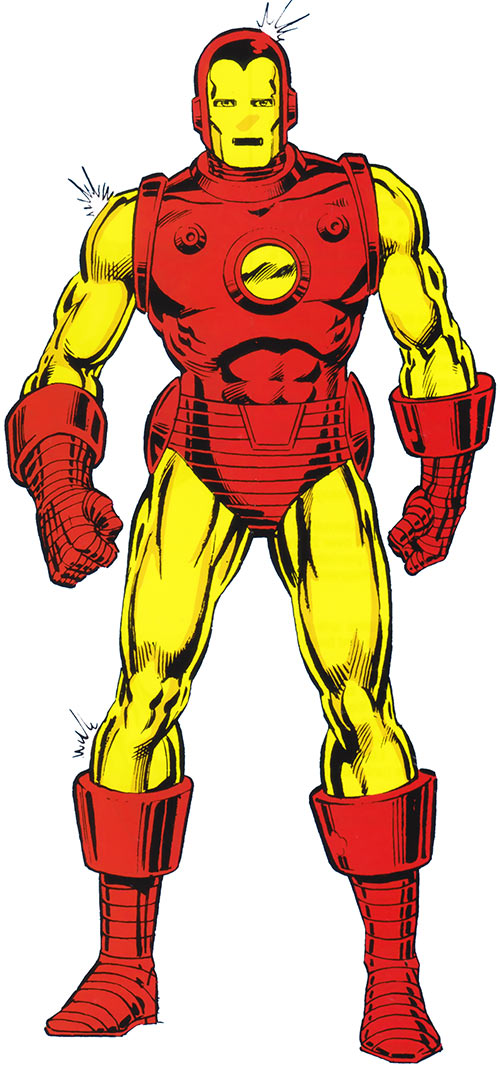 Iron Man Golden Avenger armor (Marvel Comics)
