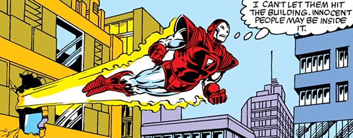 """Silver Centurion"" Iron Man armor in action"