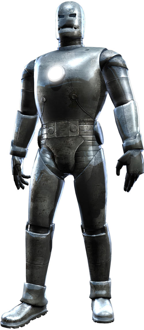 Iron Man Gray Armor suit - 3D rendering