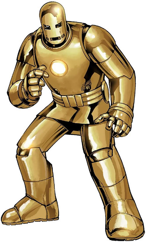 Iron Man early golden Armor suit
