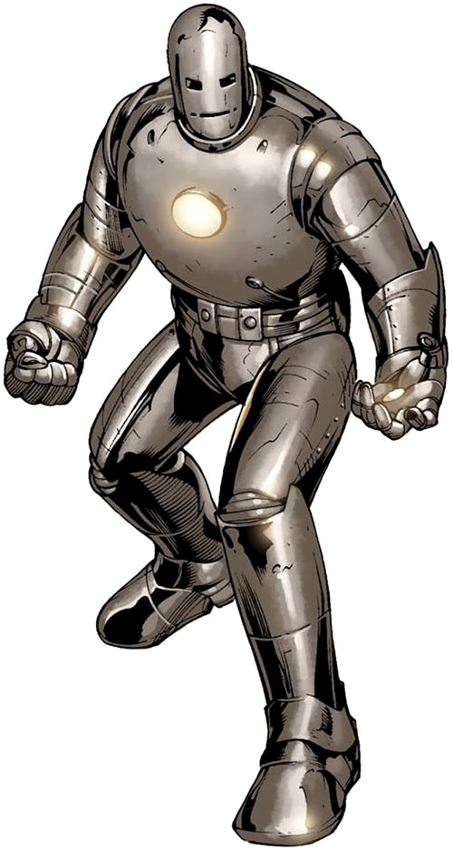 Iron Man Gray Armor suit in action