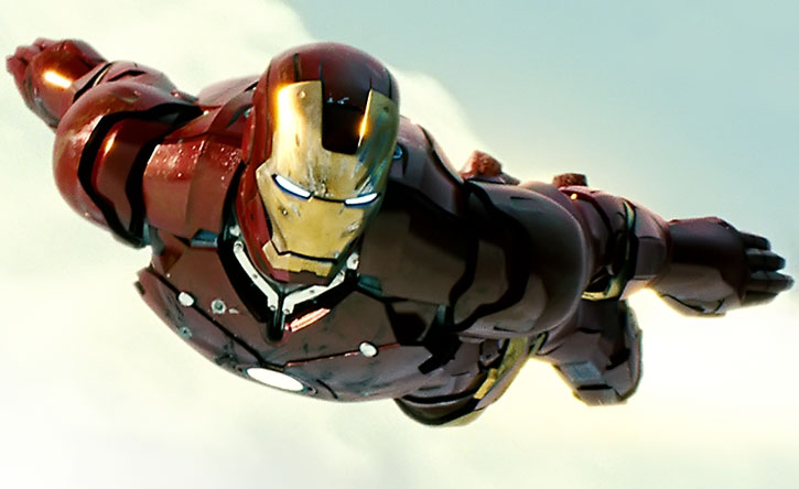 Iron Man (movie version) in flight