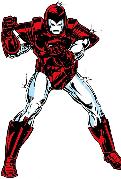 Iron Man Silver Centurion suit (Marvel Comics) from the 1980s Legacy handbook