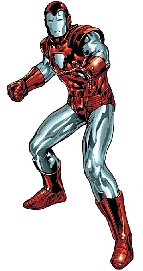 Iron Man Silver Centurion Armor (Marvel Comics) ready for action